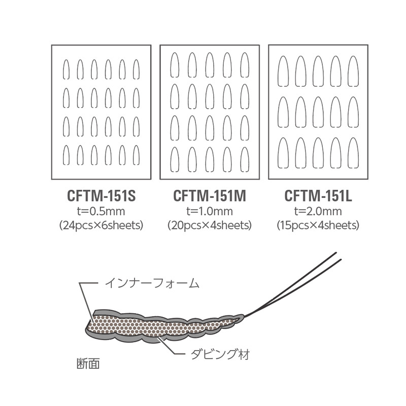 CFTM-151/S Small/Extend Body Inner Foam